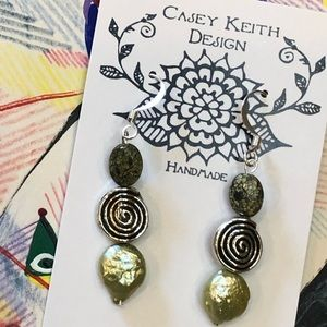 Casey Keith Design Jewelry - Serpentine Spiral Earrings